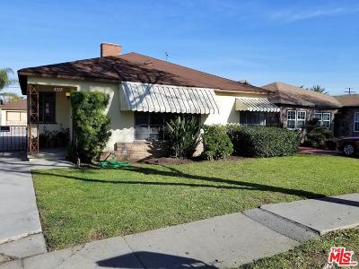 Inglewood Single Family Home For Sale: 3317 West 81st Street