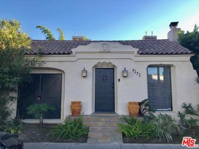 Los Angeles County Single Family Home For Sale: 7272 Willoughby Avenue