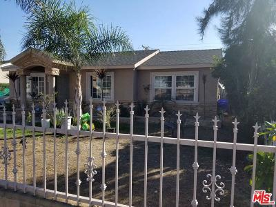 Compton Single Family Home For Sale: 1244 East 149th Street