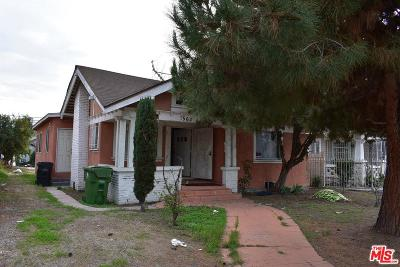 Los Angeles Single Family Home For Sale: 1568 West 45th Street