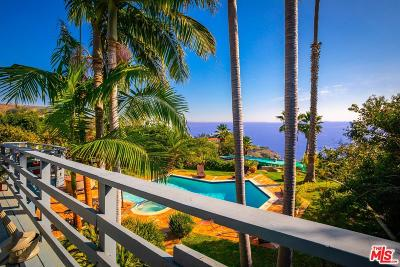 Malibu Single Family Home Active Under Contract: 3380 Sweetwater Mesa Road