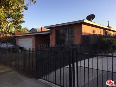 Los Angeles Single Family Home For Sale: 1524 East 101st Street