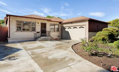 Culver City Single Family Home Active Under Contract: 4407 Vinton Avenue