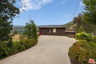 Calabasas Single Family Home For Sale: 25256 Piuma Road