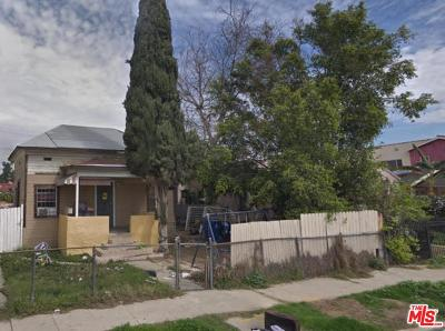 Los Angeles Single Family Home For Sale: 1875 West 20th Street
