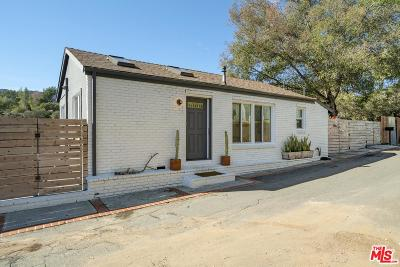 Topanga Single Family Home Active Under Contract: 305 Poquito Lane