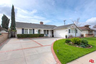Van Nuys Single Family Home Active Under Contract: 17144 Cantara Street