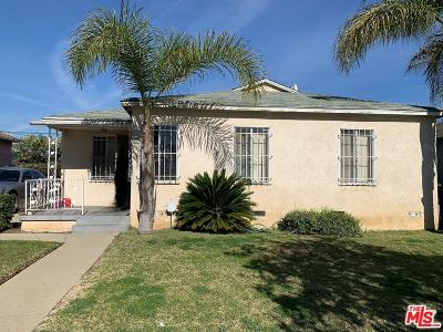 Los Angeles Single Family Home Active Under Contract: 619 East 121st Street