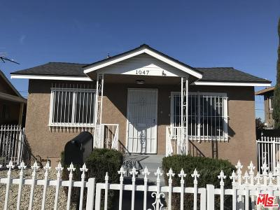 Los Angeles Single Family Home For Sale: 1047 West 98th Street
