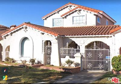 Los Angeles Single Family Home For Sale: 1227 West 82nd Street