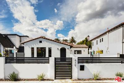 Los Angeles County Single Family Home Active Under Contract: 439 North Laurel Avenue