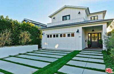 Pacific Palisades Single Family Home For Sale: 851 Hartzell Street