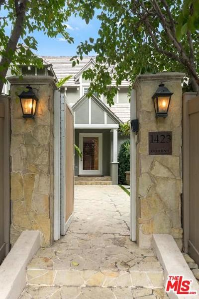 Single Family Home For Sale: 1423 North Doheny Drive