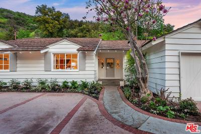 Single Family Home Active Under Contract: 3428 Mandeville Canyon Road