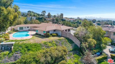 Single Family Home For Sale: 6145 Mulholland Highway