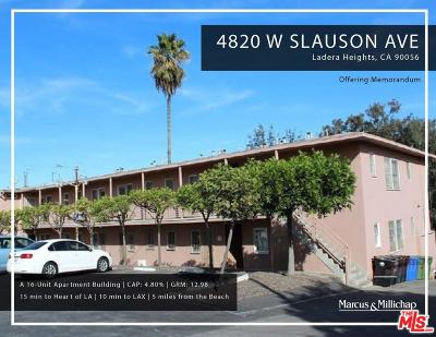 Los Angeles Residential Income For Sale: 4820 West Slauson Avenue