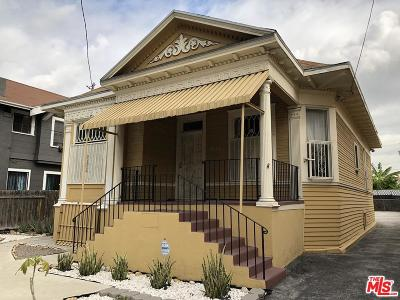 Los Angeles Single Family Home Active Under Contract: 1533 West 12th Street