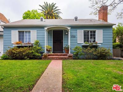 Santa Monica Single Family Home For Sale: 1733 Robson Avenue