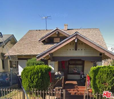 Los Angeles Single Family Home For Sale: 3901 Walton Avenue