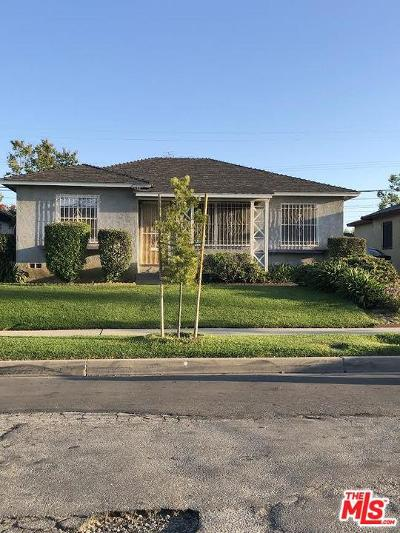 Los Angeles County Single Family Home For Sale: 1114 West 138th Street