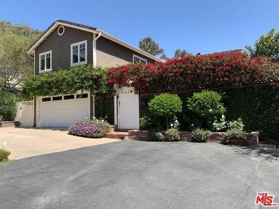 Pacific Palisades Single Family Home Active Under Contract: 16962 Avenida De Santa Ynez