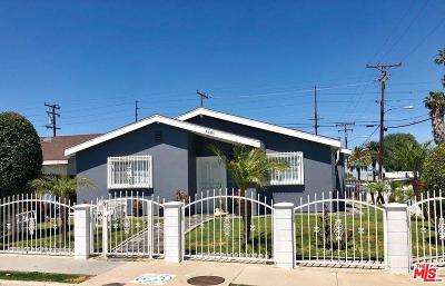 Compton Single Family Home For Sale: 1401 West 151st Street