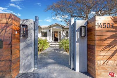 Sherman Oaks Single Family Home Sold: 14503 Greenleaf Street