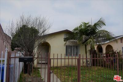 Los Angeles Single Family Home Active Under Contract: 10339 Juniper Street