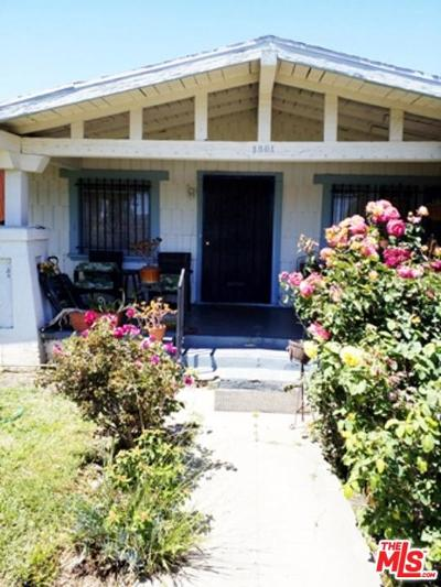 Los Angeles Single Family Home For Sale: 1501 West 58th Street