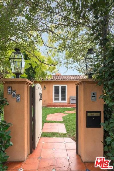 West Hollywood Single Family Home For Sale: 465 Westmount Drive