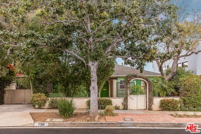Pacific Palisades Single Family Home Active Under Contract: 720 El Medio Avenue