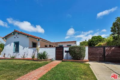 Los Angeles Single Family Home Active Under Contract: 4233 West 62nd Street