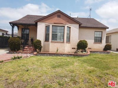 Los Angeles Single Family Home Active Under Contract: 2127 West 111th Street