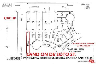 Reseda Residential Lots & Land For Sale: De Soto