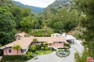 Los Angeles Single Family Home For Sale: 3375 Mandeville Canyon Road