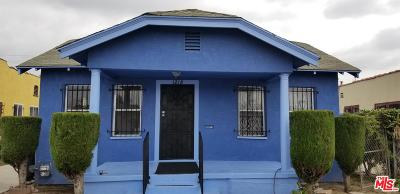 Los Angeles Single Family Home Active Under Contract: 1218 West 84th Street