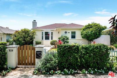 Santa Monica CA Single Family Home For Sale: $2,495,000