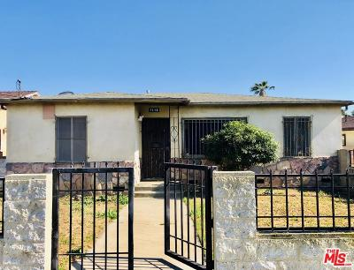 Los Angeles Single Family Home For Sale: 1116 West 121st Street