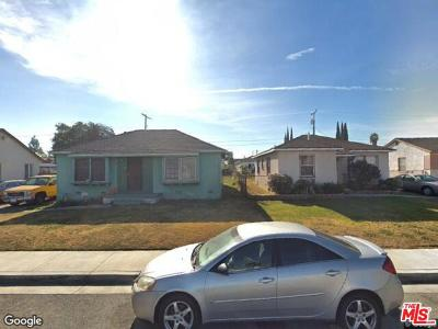 Los Angeles Single Family Home Active Under Contract: 1122 East 124th Street