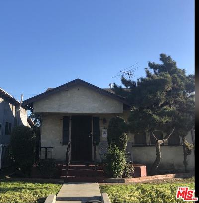 Los Angeles Single Family Home For Sale: 1324 West 73rd Street