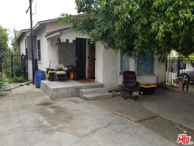 Los Angeles Single Family Home For Sale: 1043 West 89th Street