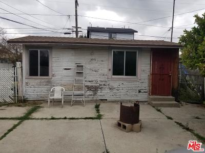 Los Angeles Single Family Home For Sale: 1041 West 89th Street