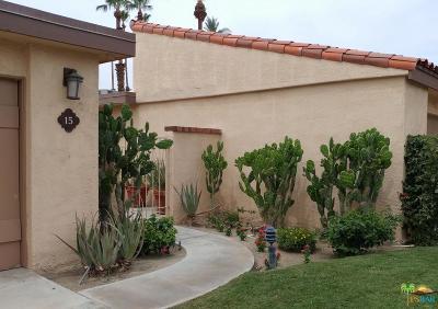 Rancho Mirage Condo/Townhouse Active Under Contract: 15 Valencia Drive