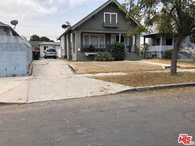 Los Angeles Single Family Home For Sale: 1130 West 48th Street