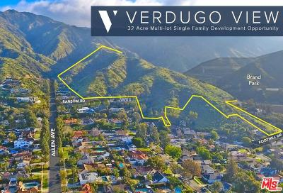 Glendale Residential Lots & Land For Sale: Foothill Drive