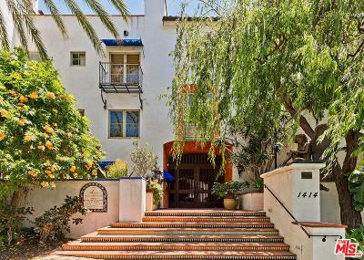 Los Angeles County Condo/Townhouse Active Under Contract: 1414 North Harper Avenue #4
