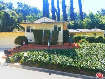 Studio City Single Family Home Active Under Contract: 3530 Laurelvale Drive