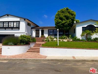 Pacific Palisades Single Family Home For Sale: 288 Bellino Drive