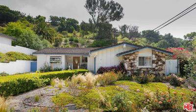 Pacific Palisades Single Family Home For Sale: 834 Jacon Way