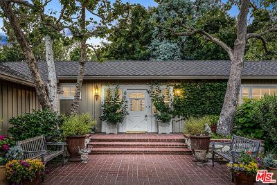 Single Family Home For Sale: 1665 Mandeville Canyon Road